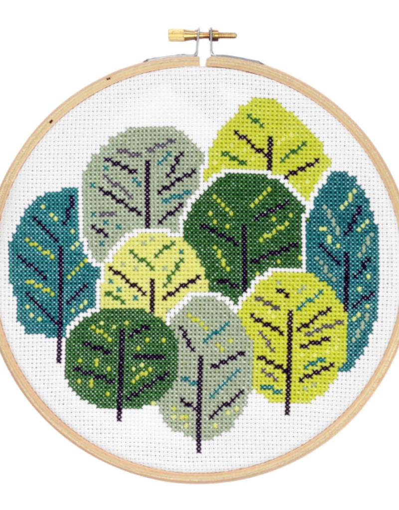 Hawthorn Handmade Cross Stitch Kit Summer Trees