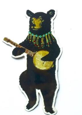 Jahna Vashti Sticker Banjo Bear