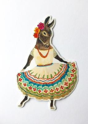 Jahna Vashti Sticker Dancing Donkey