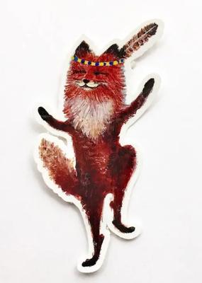 Jahna Vashti Sticker Dancing Fox