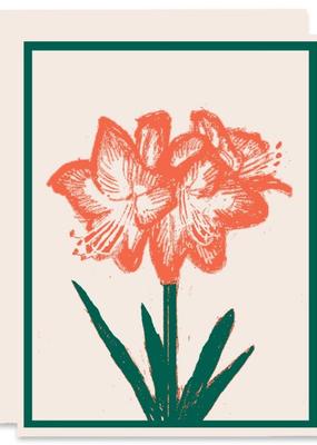 Heartell Press Card Amaryllis