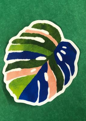 Wild Optimist Sticker Monstera Leaf