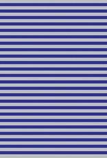 Jillson & Roberts Gift Wrap Jumbo Roll Blue & Silver Stripe