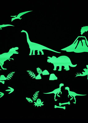 Gloplay Glow in the Dark Stickers Dino World