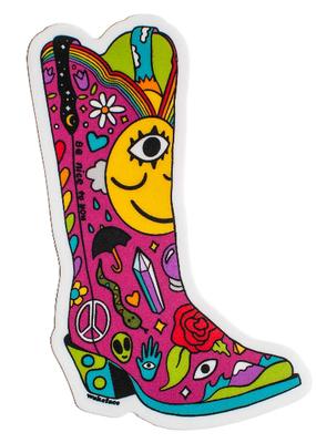 Wokeface Sticker Boot