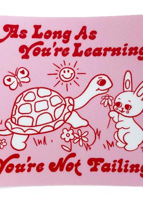Wokeface Sticker Learning Turtle Bunny