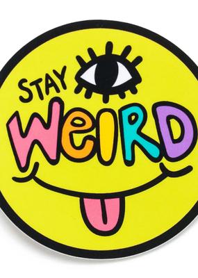 Wokeface Sticker Stay Weird