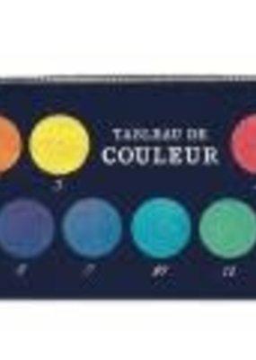 Cavallini Mini Pencil Pouch Color Chart