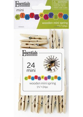 Leisure Arts Mini Spring Clothespin 24 Piece