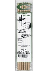 Cindoco Wood Dowel Package 12 x 3/8 Inch 6 Pieces