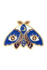 collage Enamel Pin Starry Eyed Moth