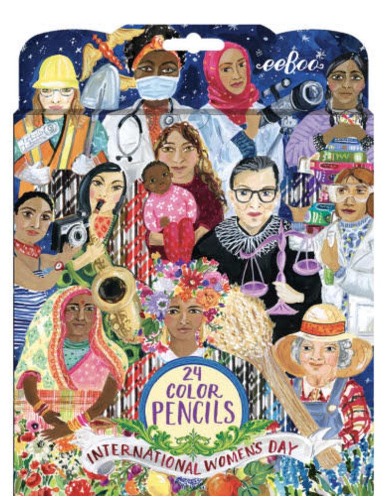eeBoo Set of 24 Colored Pencils International Women's Day