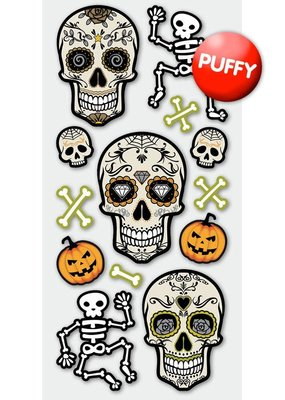 Paper House Stickers Sugar Skulls and Skeletons