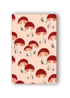 Denik Layflat Notebook Peach Mushrooms