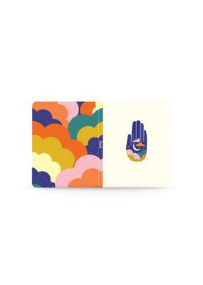 Denik Medium Layflat Notebook Midnight Hamsa