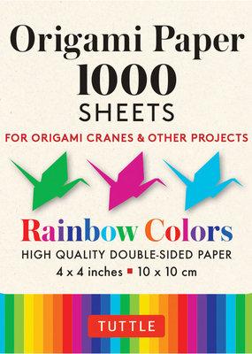 Tuttle Publishing Origami Paper 1000 Sheets Rainbow Colors