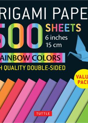 Tuttle Publishing Origami Paper 500 Sheets Rainbow Colors