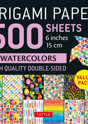 Tuttle Publishing Origami Paper 500 Sheets Rainbow Watercolors