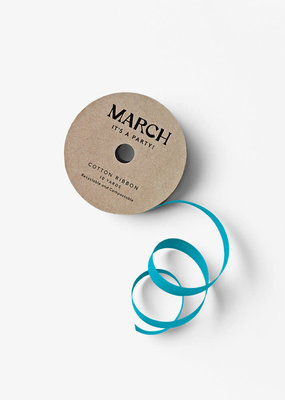 march 100% Cotton Ribbon Teal