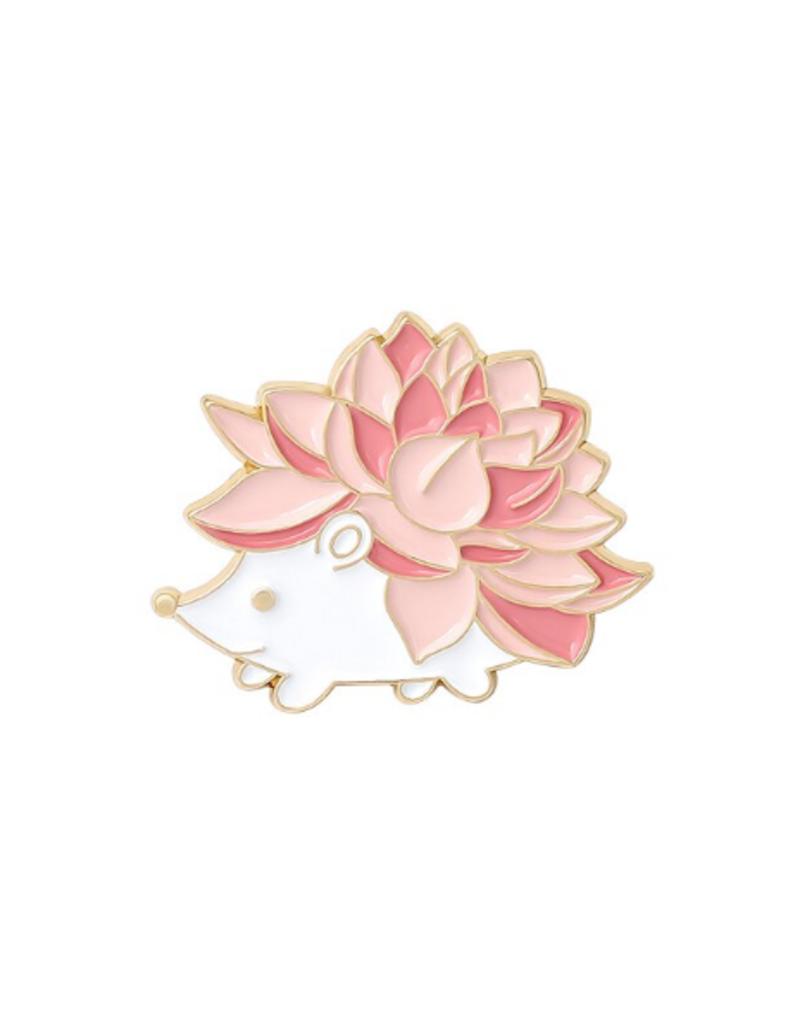 collage Enamel Pin Flower Hedgehog