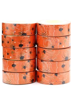 collage Washi Spiders Orange