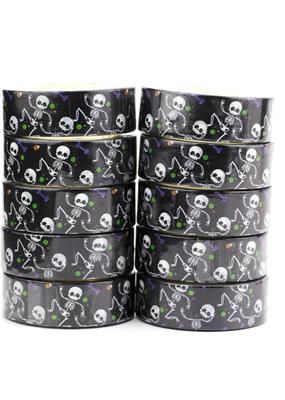 collage Washi Skeleton on Black