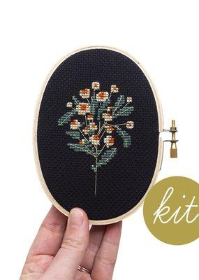 Junebug and Darlin Cross Stitch Kit Moonlit Daisy