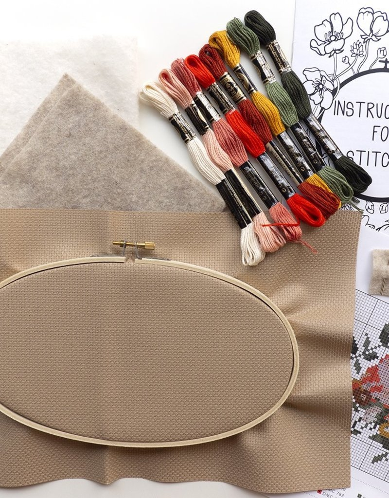 Junebug and Darlin Cross Stitch Kit Rosy Chaos