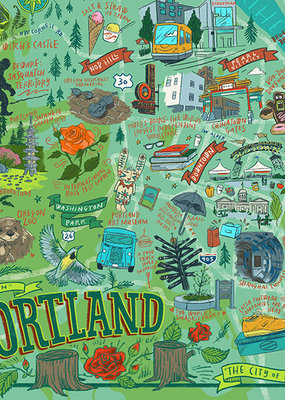 True South Puzzle Portland Illustrated