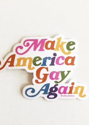Ash + Chess Sticker Make America Gay Again