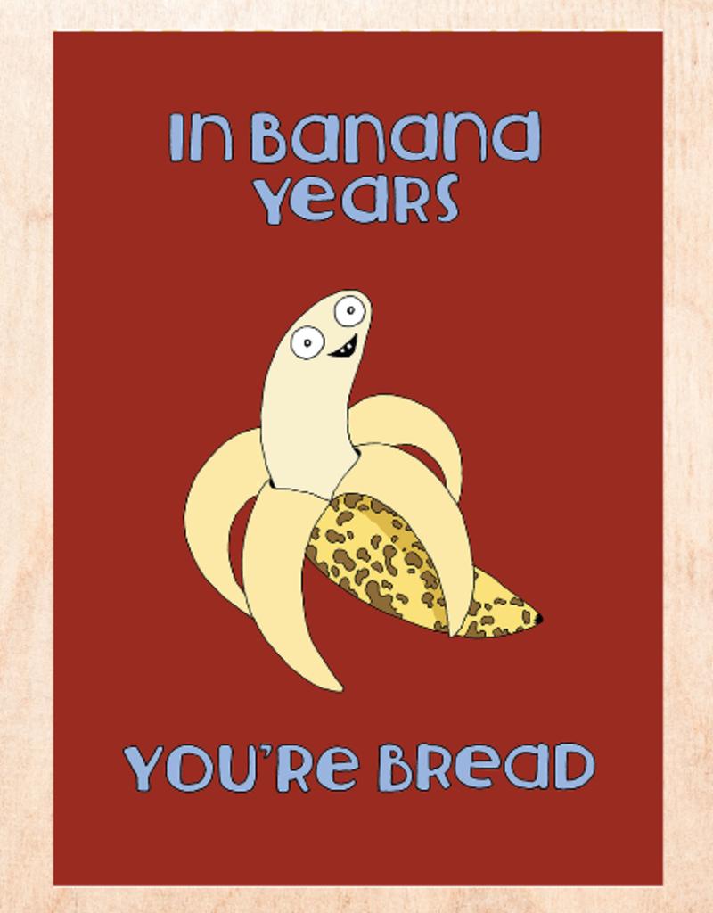 FINEASSLINES Card Banana Years