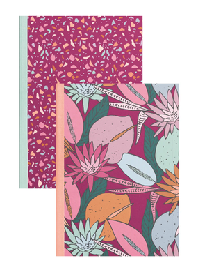 Talking Out Of Turn Notebook Set Floral Nights