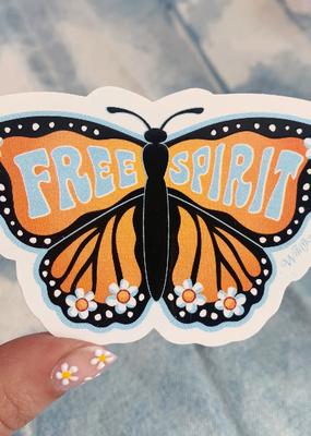 Wildflower + Co. Sticker Free Spirit Butterfly