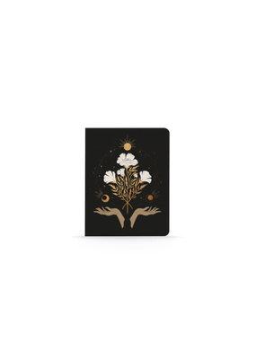 Denik Medium Layflat Notebook Celestial Flowers