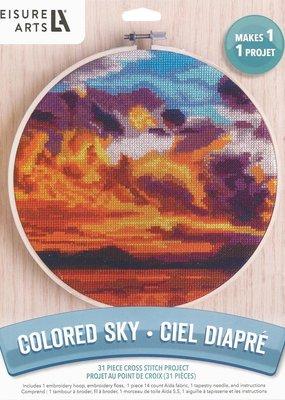 Leisure Arts Cross Stitch Kit Colored Sky
