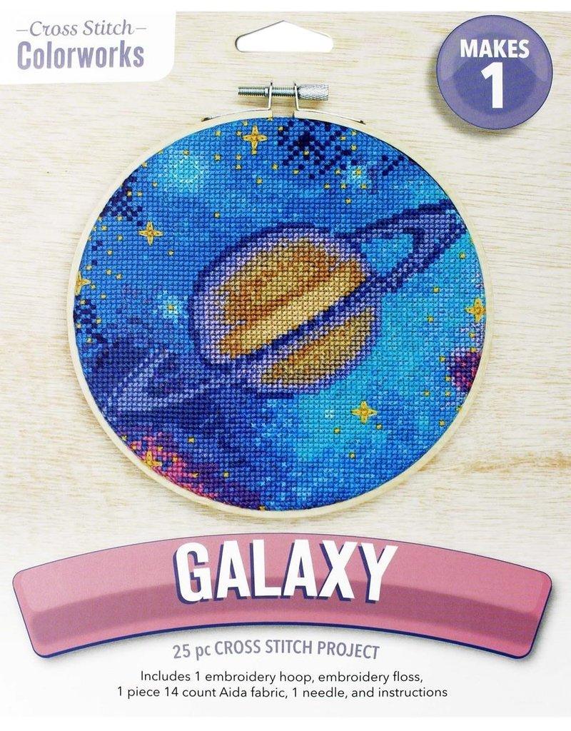 Leisure Arts Cross Stitch Kit Galaxy