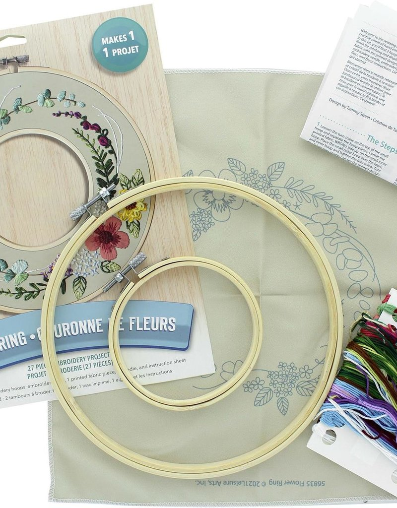 Leisure Arts Embroidery Kit Flower Ring