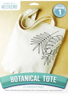Leisure Arts Embroidery Kit Botanical Tote