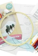Leisure Arts Embroidery Kit Hot Air Balloon