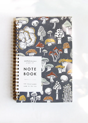 Root & Branch Paper Co. Spiral Bound Notebook Mushroom & Fungi