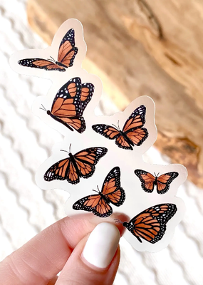 Elyse Breanne Design Sticker Clear  Flying Butterflies