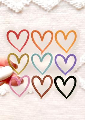 Elyse Breanne Design Sticker Clear  Pride Heart