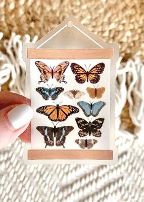 Elyse Breanne Design Sticker Clear Butterfly Banner