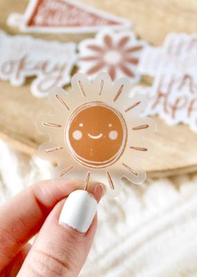 Elyse Breanne Design Sticker Clear Mini Sun