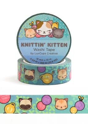 LuxCups Creative Washi Knittin' Kitten
