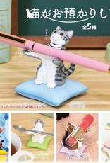 Cat on Pillow Pen Holder Capsule