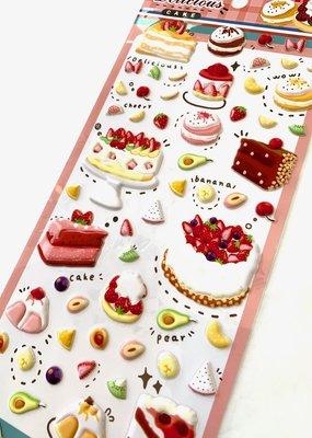Stickers Puffy Cake