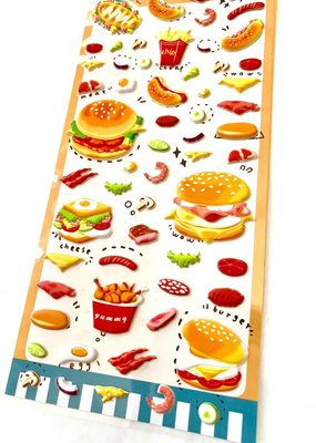Stickers Puffy Burger