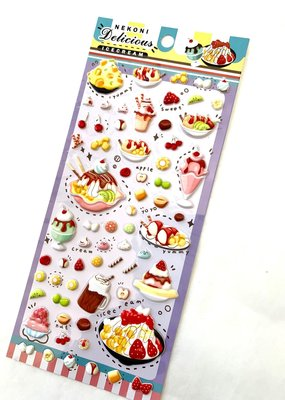 Stickers Puffy Dessert