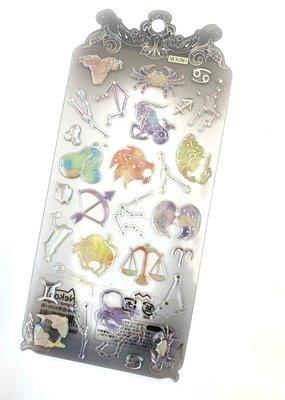 Stickers Zodiac Crystal Gel